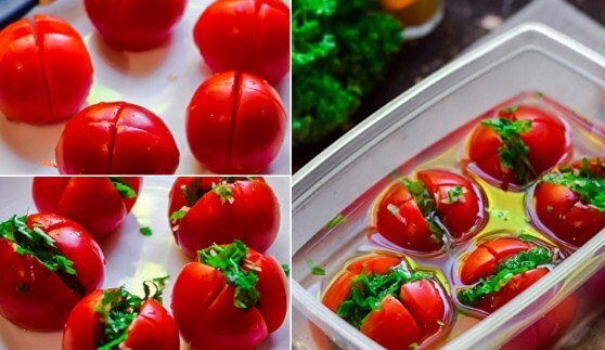 Рецепт: Помидоры по-армянски - Типичный Кулинар