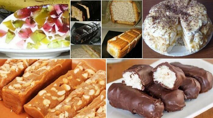 12 уникальных рецептов сладких блюд, не требующих выпечки!