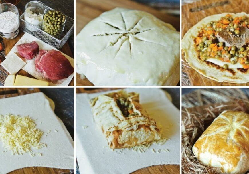Английский пастуший пирог с говядиной и овощами
