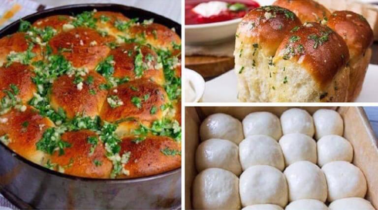 Аппетитные пампушки с чесноком: простой рецепт