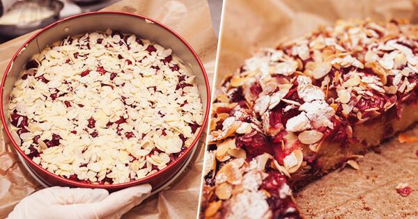 Ароматный венский вишневый пирог