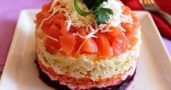 Диетический салат «Семга на шубе» БЕЗ МАЙОНЕЗА. Особое сочетание ингредиентов, великолепный вкус!