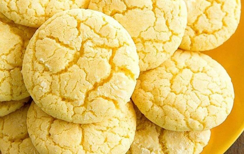 Домашнее лимонное печенье на кефире