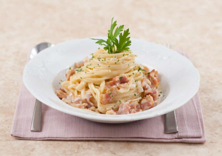 Итальянские спагетти «Карбонара» в домашних условиях