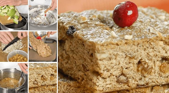 Яблочные пироги «коврижки» с изюмом и орехами по старинному рецепту