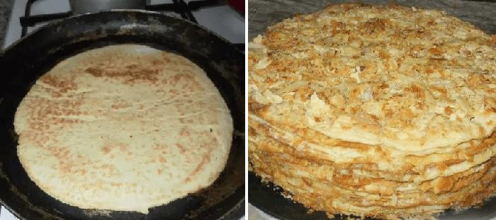 Как приготовить торт Наполеон на сковороде: простой рецепт