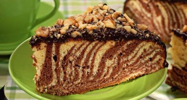 Как приготовить вкусный торт «Зебра» в мультиварке