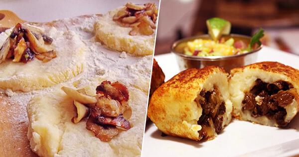 Картофельные зразы с грибами шампиньонами и жареным луком