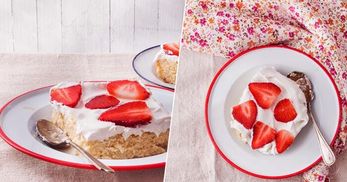 Клубничный пирог «Три молока» - нереально вкусный!