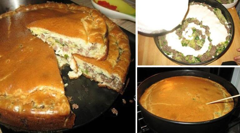 Необычный нежный пирог с мясом и капустой: пошаговый рецепт