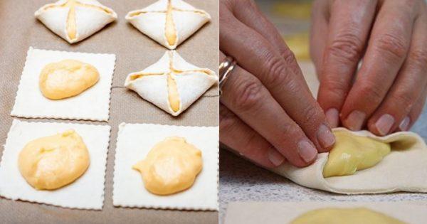 Нежное и воздушное пирожное с заварным кремом
