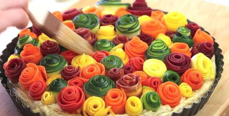 Овощной пирог в духовке
