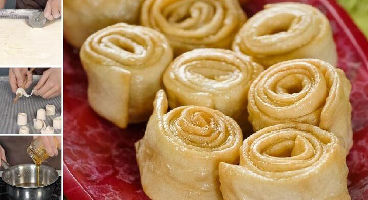 Постное хрустящее печенье «Завитушки» в медово-лимонном сиропе