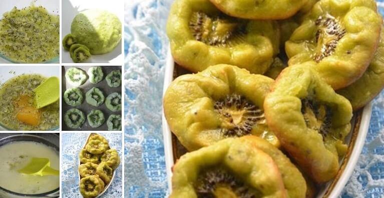 Постное печенье с медом и киви