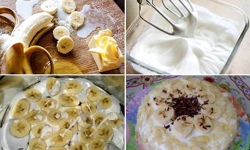Простой и вкусный банановый пирог всего за полчаса!