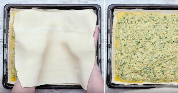 Рецепт греческого сырного пирога «Тиропита» Tiropita из слоеного теста