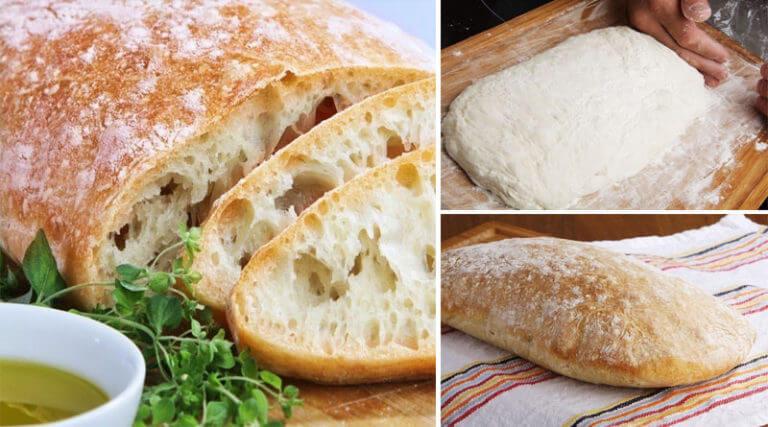 Рецепт итальянского хлеба «Чиабатта» в домашних условиях