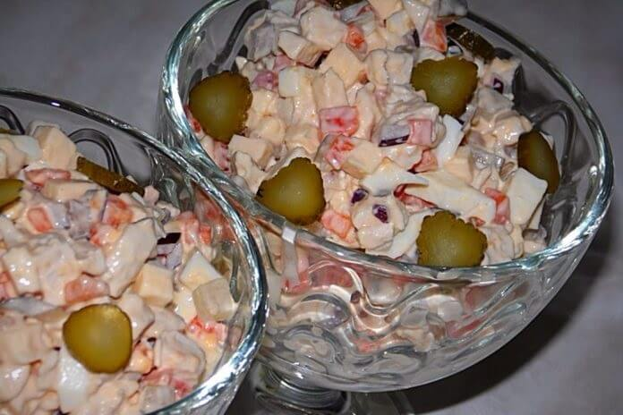 Рецепт необычного яркого салата «Марфа»