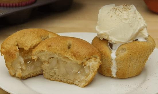 Рецепт необычной мини-версии шарлотки (кексы)