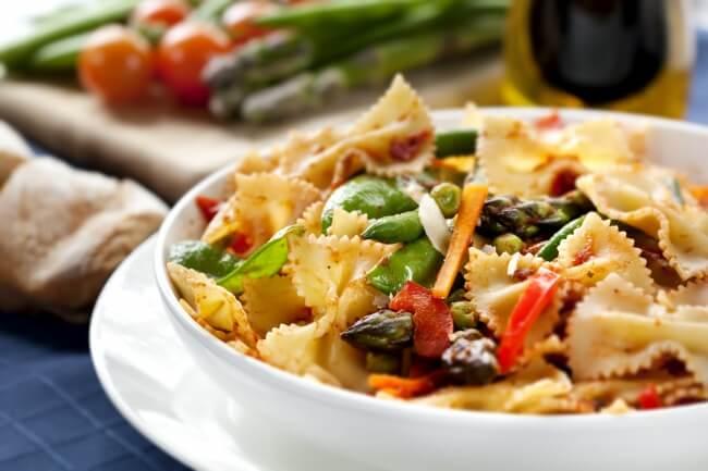 Рецепт пасты фарфалле с овощами