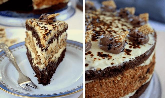 Рецепт приготовления очень необычного и вкусного халвового торта