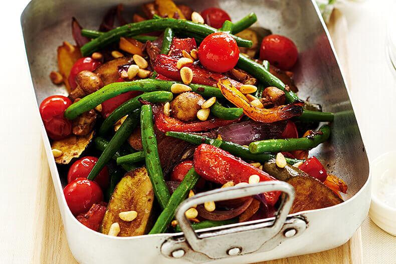 Рецепт вегетарианского салата из печеной свеклы