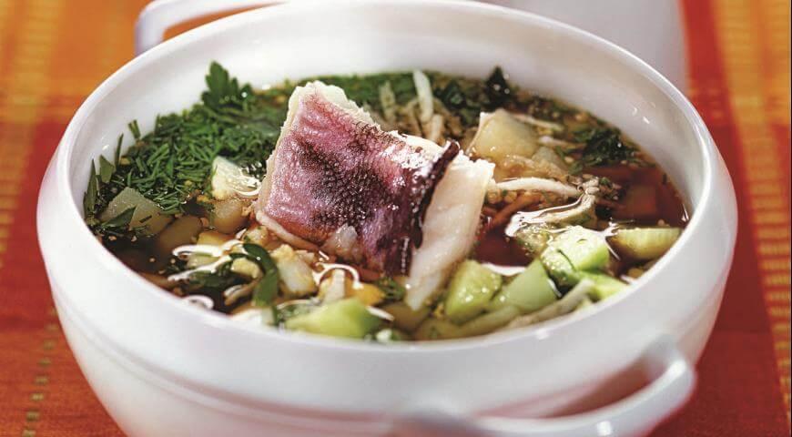Рецепт вкуснейшей рыбной окрошки на квасе