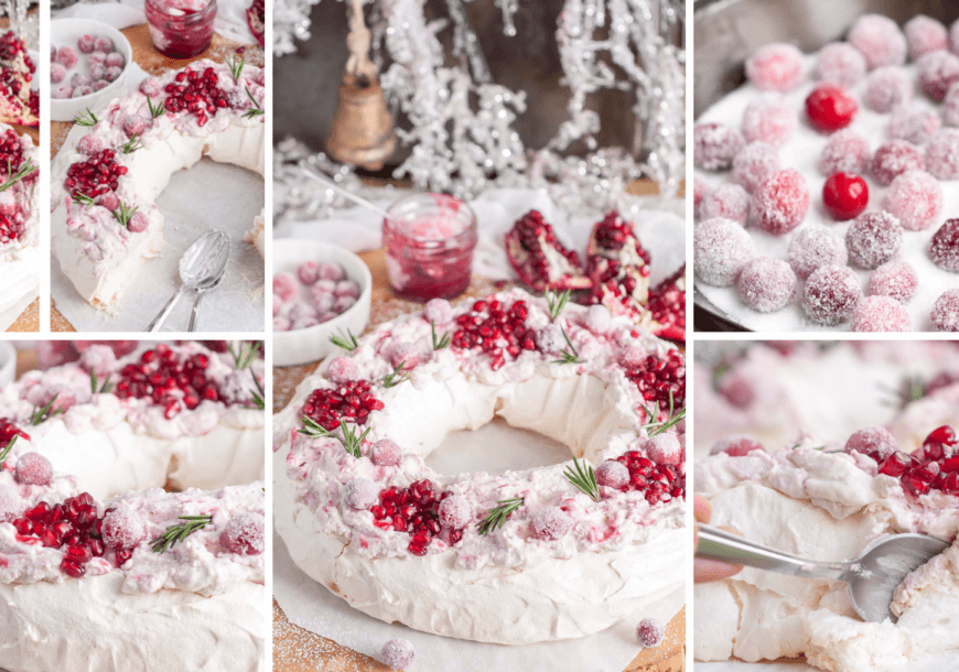 Рождественский торт «Анна Павлова» с гранатом