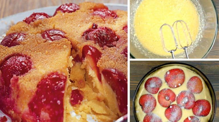 Самый вкусный сливовый пирог: пошаговый рецепт