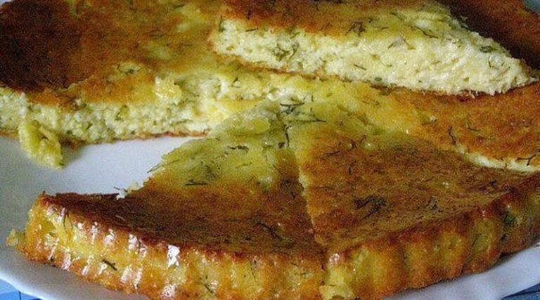 Самый вкусный сырный пирог на обычном кефире