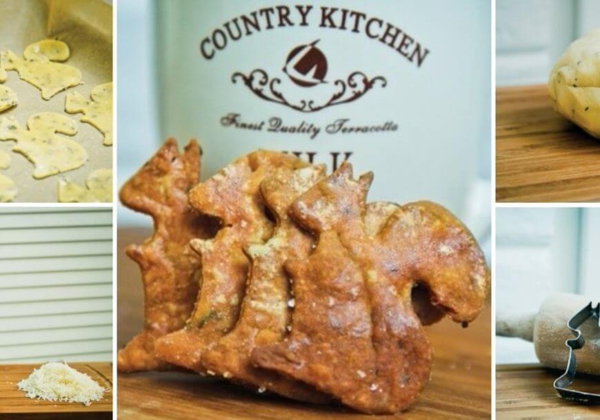 Сырное печенье с базиликом и пармезаном «Белочки»