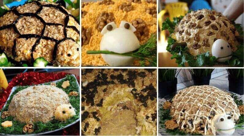 Салат «Черепаха» с курицей: ТОП-7 вкусных рецептов
