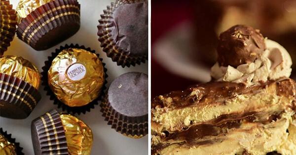 Торт Ферреро с конфетами Ferrero Rocher