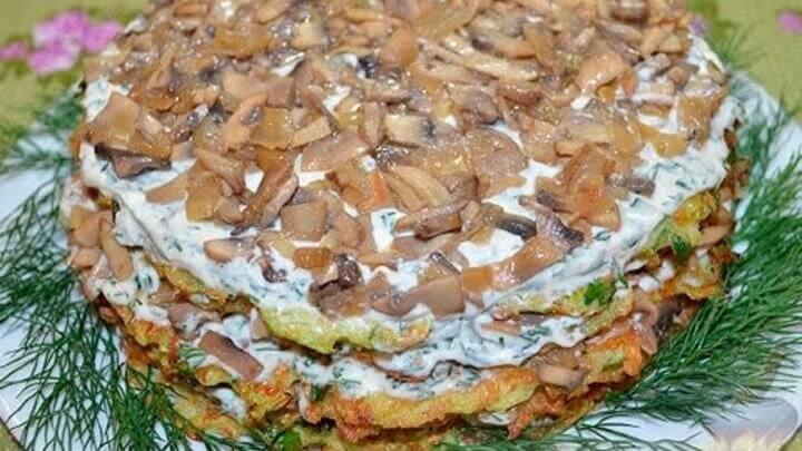 Торт из кабачков быстро и вкусно