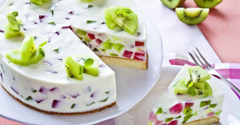Торт с желе и фруктами: необычайно нежный вкус!