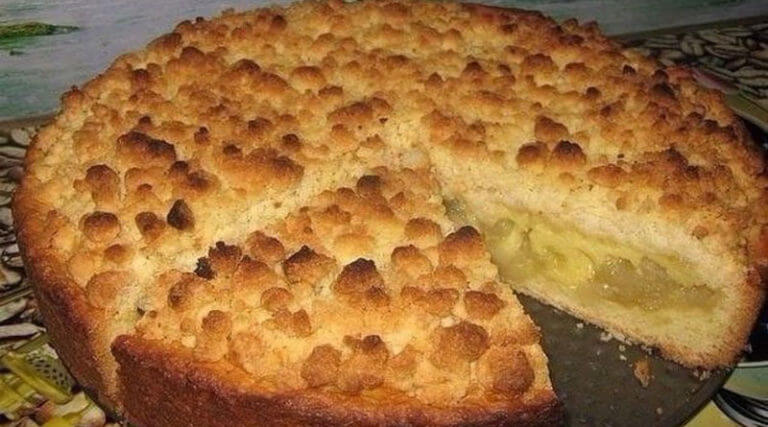 Царский пирог с нежной яблочно-сливочной начинкой
