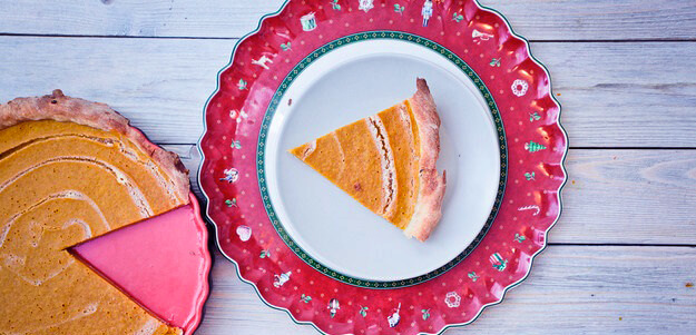 Тыквенный пирог со сгущенным молоком