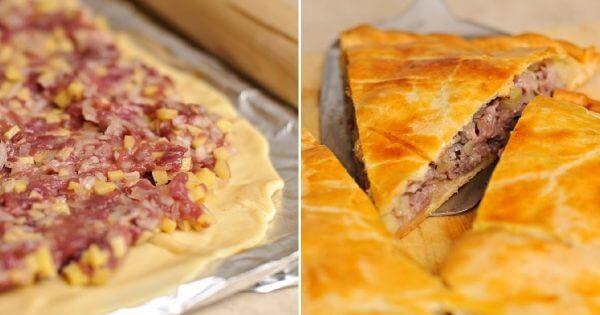 Вот отличный вариант пирога на каждый день. Быстрый мясной пирог «Проворный»!