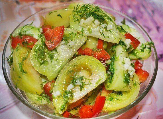 Замечательный рецепт: маринованные зеленые помидоры. Потрясающая закуска!