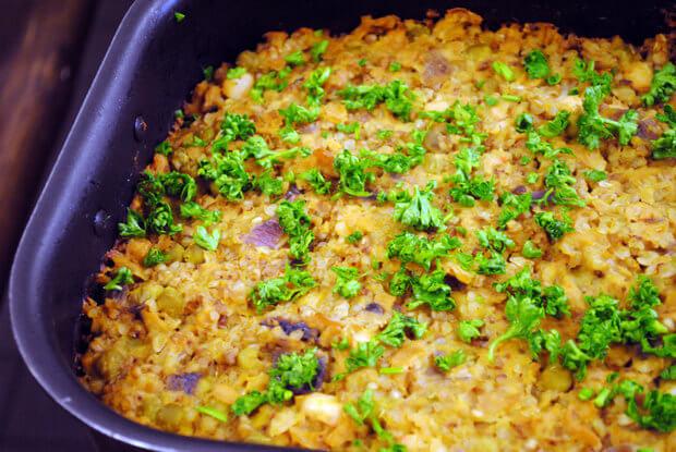 Запеканка из гречки и печени: пошаговый рецепт с фото