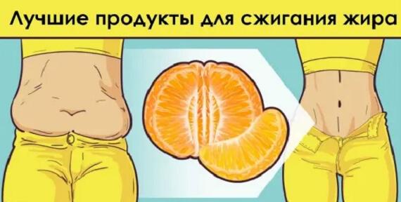25 продуктов, которые лучше всего сжигают жир с женского тела!