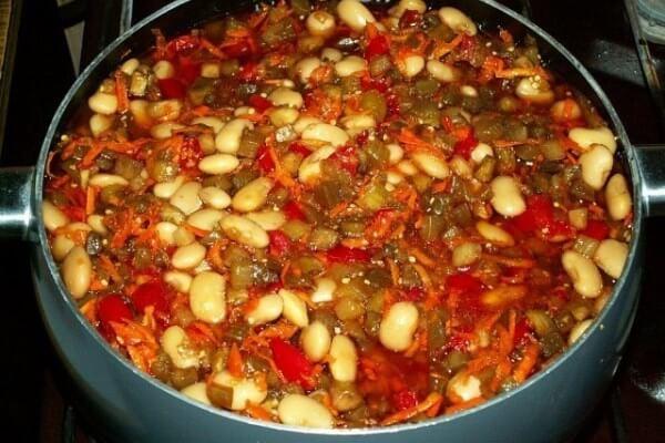 Баклажаны с фасолью на зиму: очень вкусный рецепт приготовления!