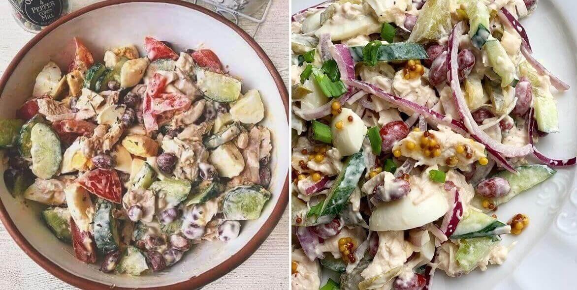 Белковые салаты для похудения