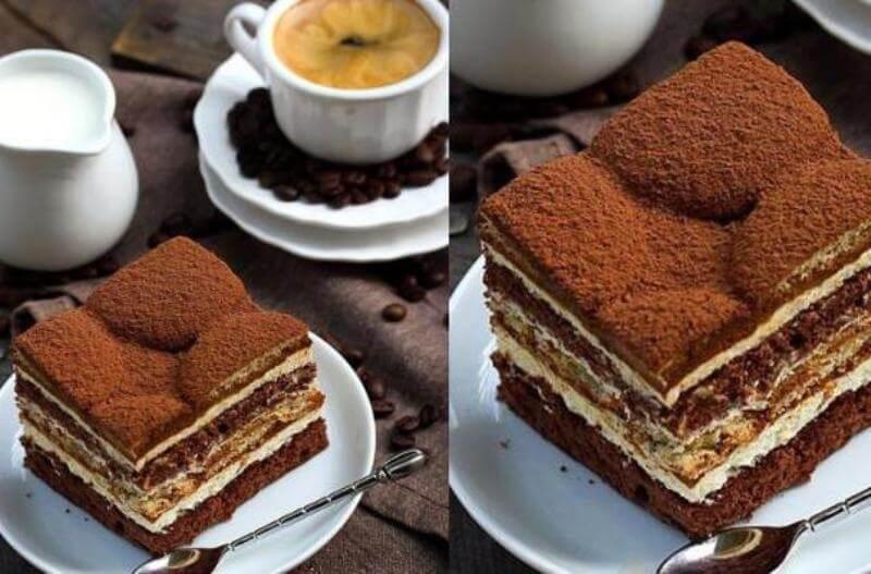 Бисквитный торт «Латте макиато»: пошаговый рецепт
