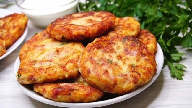 Биточки картофельные пошаговый рецепт