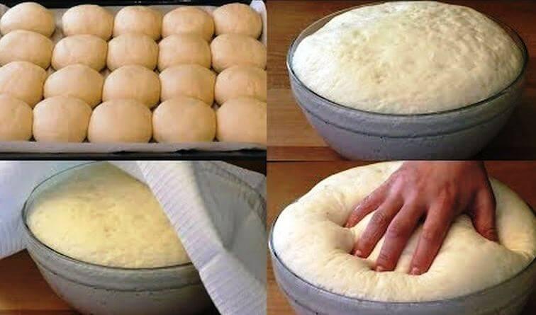 Быстрое дрожжевое тесто на воде без яиц. Простой и удобный рецепт!