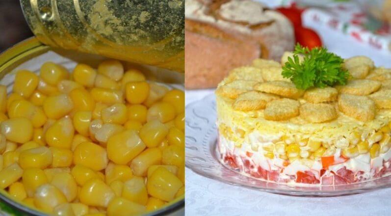 Салаты с кукурузой: просто и быстро!