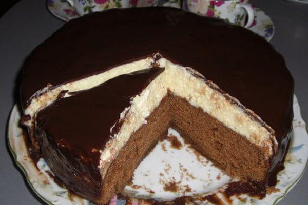 Домашний торт «Птичье молоко» без выпечки
