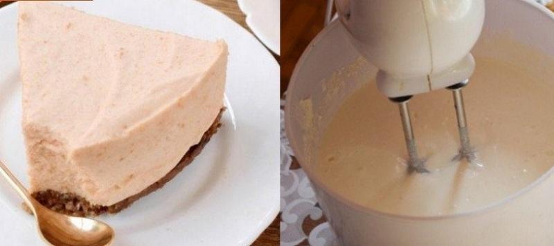 Рецепт яблочного десерта в виде мусса на бисквите!