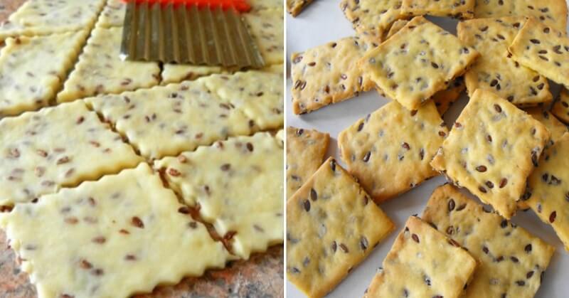 Галетное печенье с семенами льна